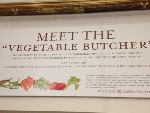 """Talijanski Eataly u dućanu ima """"mesara"""" za povrće"""