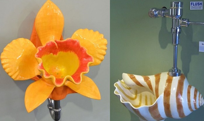 Ovaj umjetnik pravi pisoare u obliku cvijeća i školjki