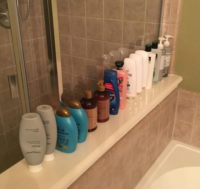 """Moja žena ikada je potroši bočicu šampona prije nego kupi novu..."""