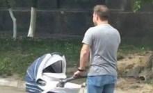 Ljudi su se čudili kako ovaj lik šeta bebu, što vi mislite o tome?