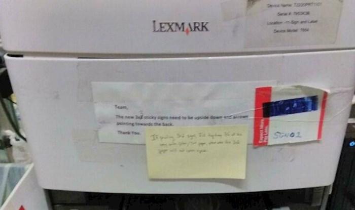 Nećete vjerovati zašto ovim ljudima nije radio printer