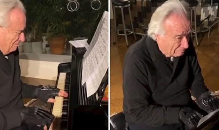 Poznati pijanist je prvi put zasvirao klavir nakon 20 godina zahvaljujući bioničkim rukavicama
