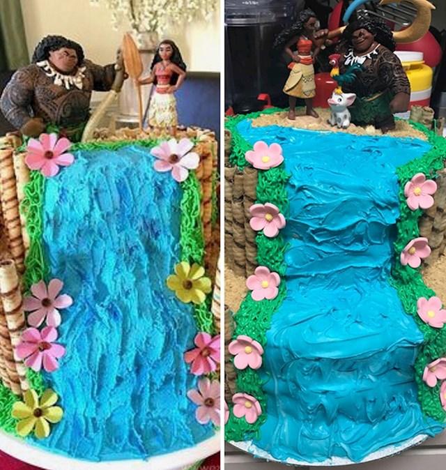 """""""Lijevo je torta koju sam pronašla na internetu, a s desne strane je ona koju sam ja napravila"""""""