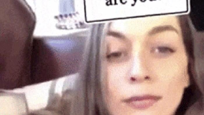 Cura se zabavljala aplikacijom na mobitelu, ono što joj se dogodilo prilično je urnebesno