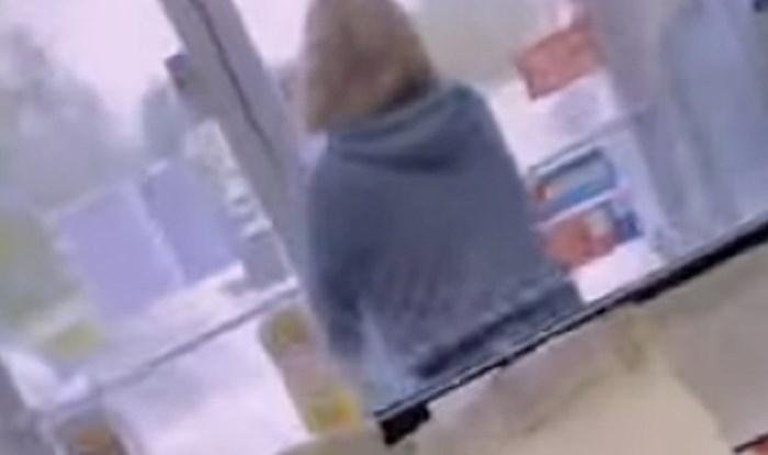 Trgovac snimio ženu koja je napravila rupu u maski, njeno objašnjenje je urnebesno