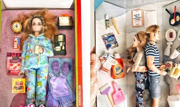 Žena je napravila Barbie lutke u drugačijem izdanju i pokazala kako bi se one nosile s karantenom