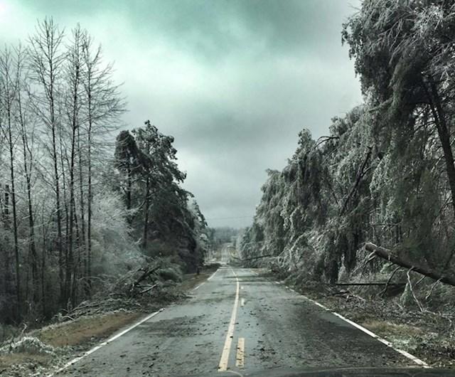 Zbog ledene oluje Sjeverna Gruzija izgleda kao scena iz filma apokalipse