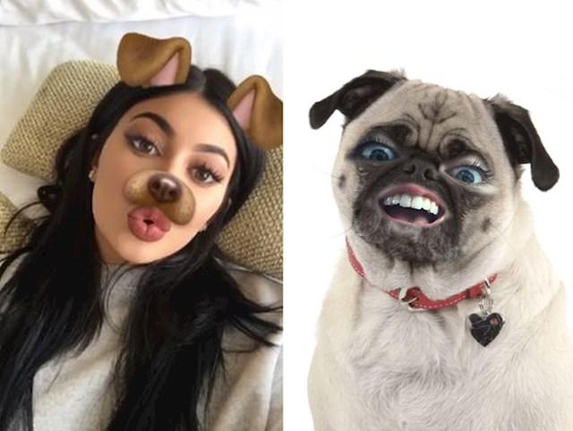 Filteri sa psećim licem postoje i u ovoj verziji