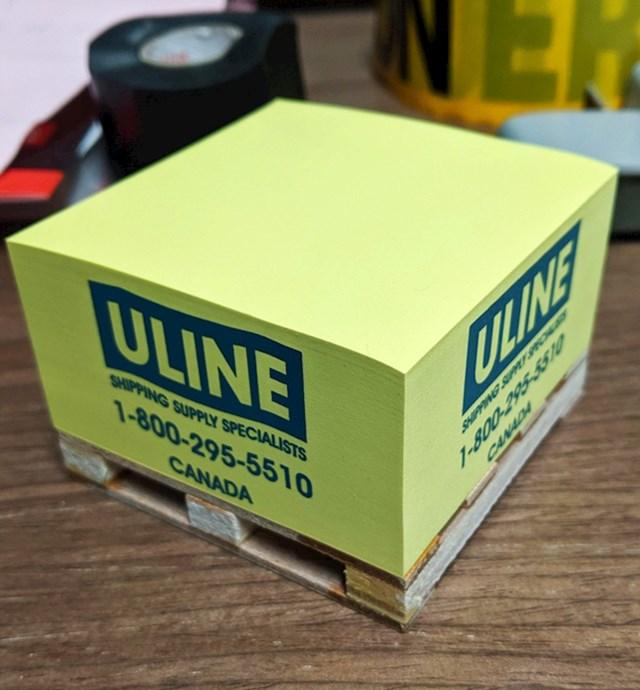 Papirići za zapisivanje na mini paleti