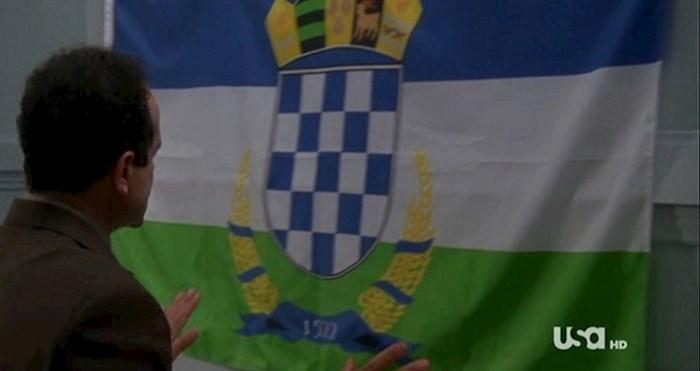 Jednom se u hit seriji pojavila ova zastava. Ovo je priča iza te epizode