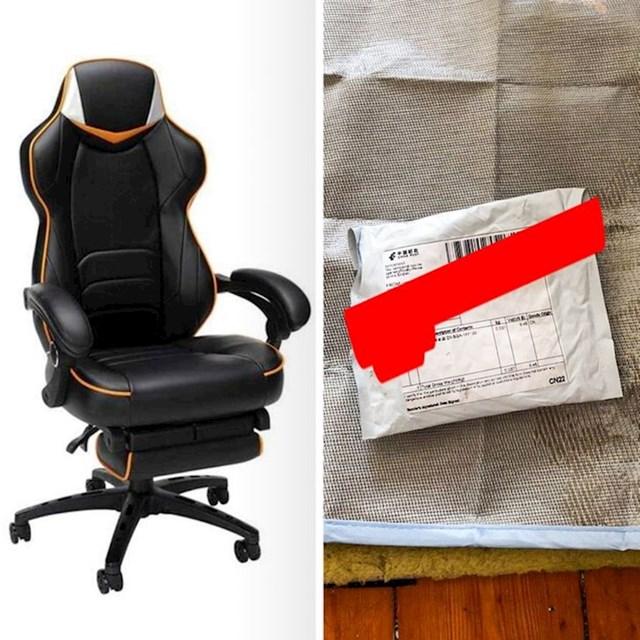 """""""Moj cimer je naručio ovu stolicu online. Rekao sam mu da ju nikada neće dobiti. Ovo mu je došlo..."""""""