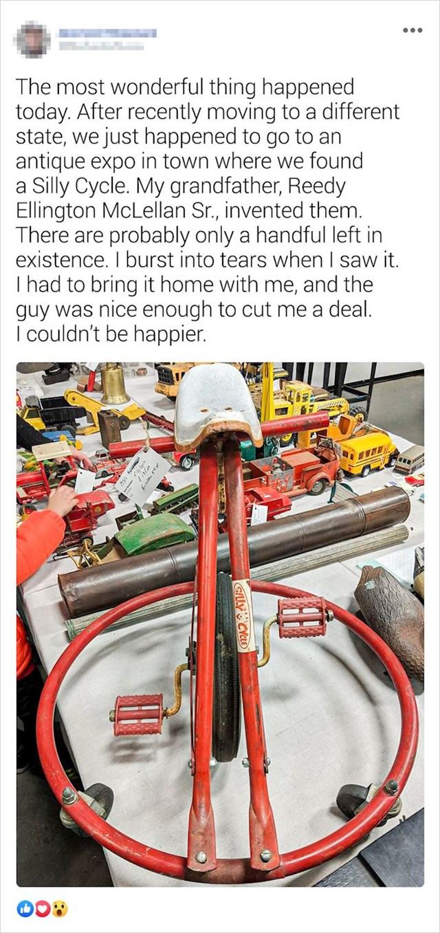 Ovaj čovjek je pronašao neobičan bicikl koji je izumio njegov djed, a ostalo ih je još samo par