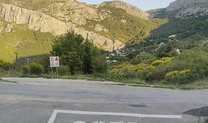 Majstori su se malo zeznuli dok su crtali prometni znak na cesti u Solinu, evo kako on izgleda