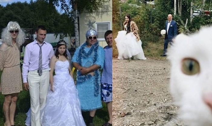 Čudne i smiješne fotke s vjenčanja koje je teško objasniti