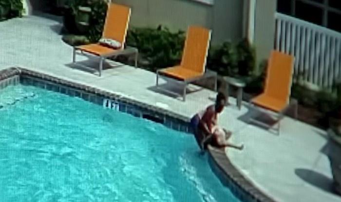 Desetogodišnja djevojčica spasila je sestru od utapanja u bazenu, pogledajte njenu brzu reakciju