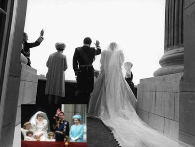 Princ Charles i princeza Diana mašu s balkona Buckinghamske palače