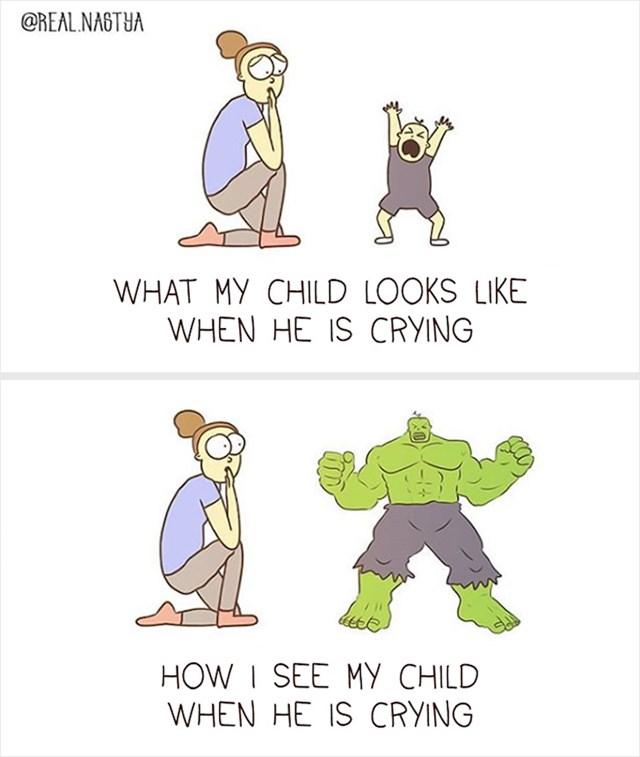 Kako moje dijete izgleda kada plače, a kako ga ja vidim: