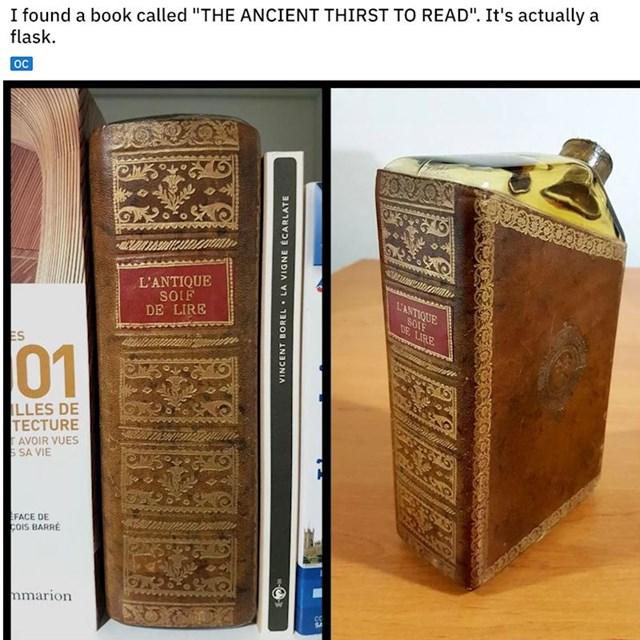 """""""Pronašao sam knjigu koja se zove """"Drevna žeđ za čitanjem"""". To je zapravo boca"""""""
