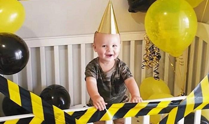 Ovom slatkišu roditelji su organizirali proslavu prvog rođendana, slika je hit