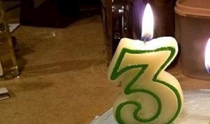Nisu imali dovoljno svjećica za rođendansku tortu, ali su se odlično snašli