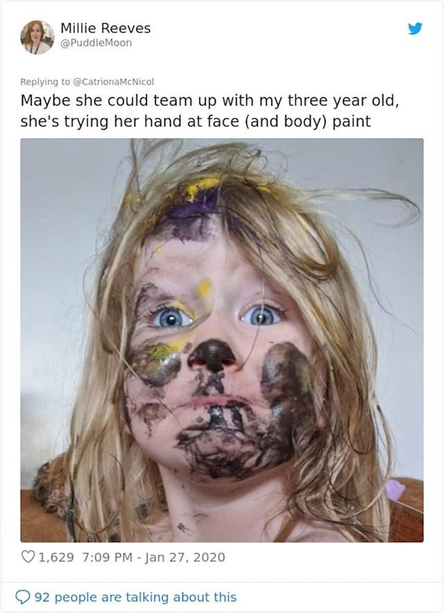 Drugi roditelji ubrzo su objavili umjetničke pokušaje svoje djece