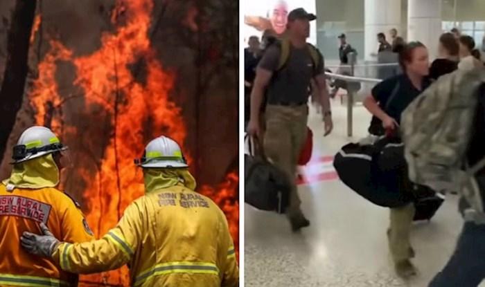 Pogledajte kako su dočekani američki vatrogasci na australskom aerodromu