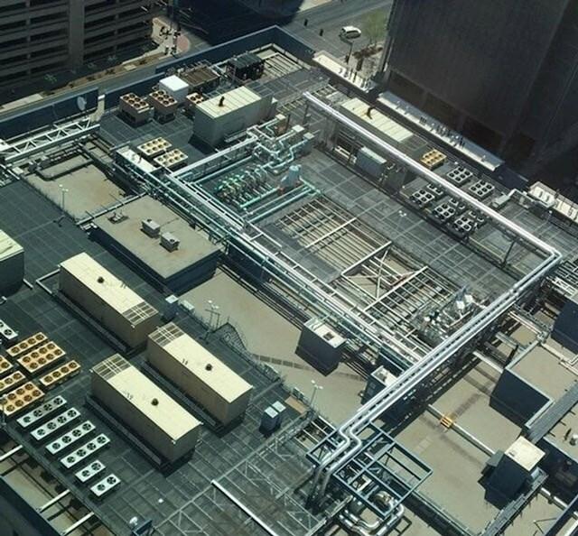 Izgleda kao matična ploča računala, a zapravo je krov jedne zgrade... .:D