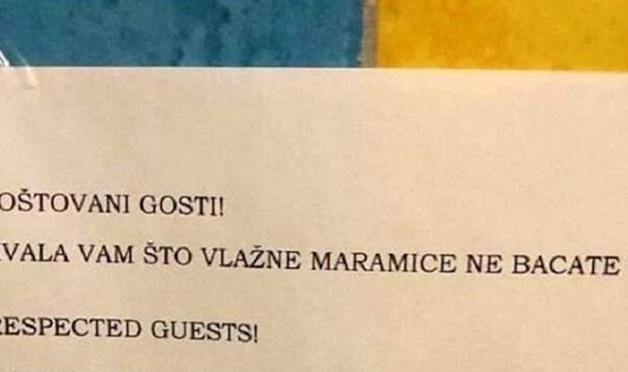 Morate vidjeti kako su u toaletu jednog lokala preveli ovaj natpis