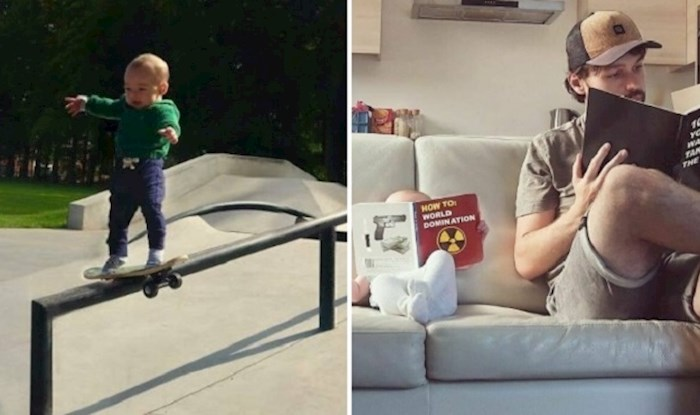 Ovaj tata fotkao je svoje svakodnevne aktivnosti sa sinom na urnebesan način