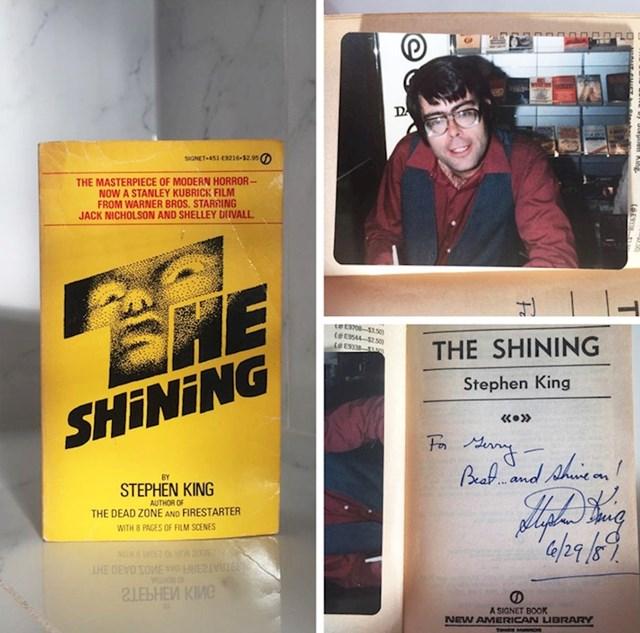 """""""Najbolje potrošenih 2 dolara ikad! U knjizi je fotografija Stephena Kinga i njegov autogram!"""""""