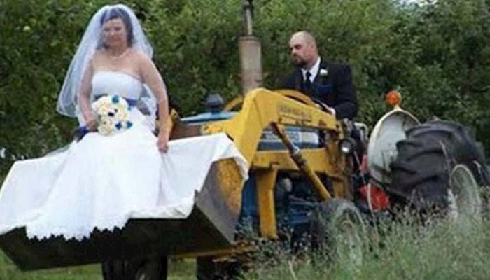 26 bizarnih vjenčanih fotografija