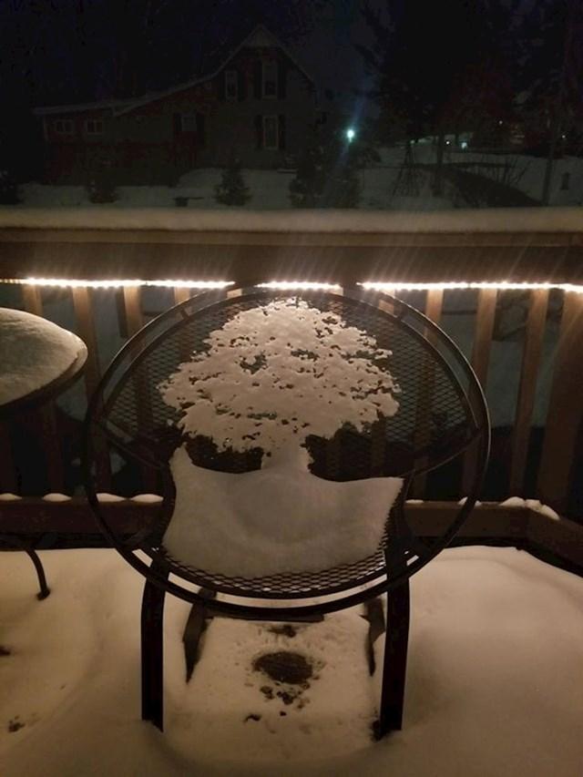 Stablo od snijega