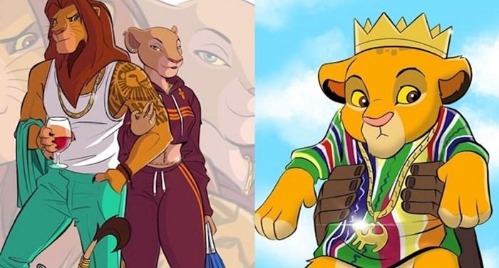 Umjetnik je na svojim ilustracijama prikazao kako bi likovi iz Kralja lavova izgledali kao ljudi