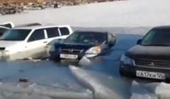 VIDEO Ljudi su koristili zaleđeno jezero kao parkiralište. Pogledajte rezultat