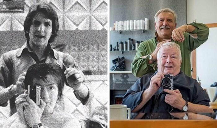 Čovjek je slikao sebe i svoga frizera 1973. godine i nastavio tu tradiciju kroz 40 godina