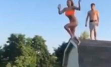 Cura je skočila s krova kuće na trampolin, imala je više sreće nego pameti
