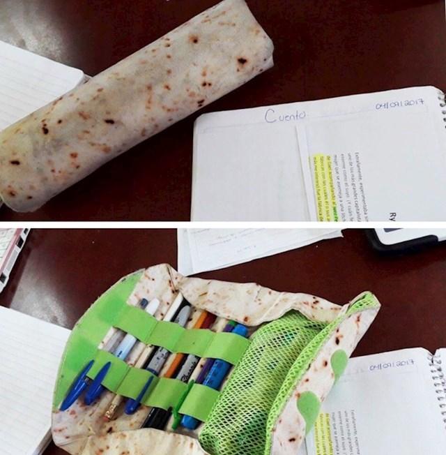 Pernica koja nalikuje na tortilju
