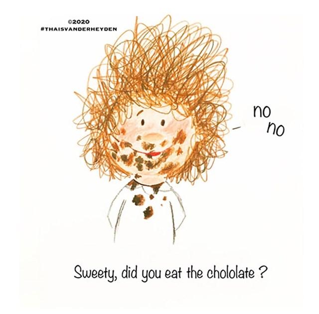 Jesi li pojeo čokoladu?  Nisam!