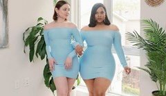 Dvije frendice pokazuju kako ista odjeća izgleda na potpuno različitim oblicima tijela