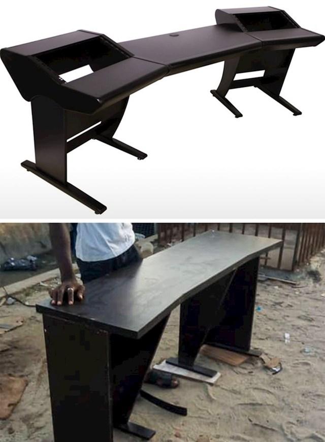 """""""Naručio sam stol koji bi se savršeno uklopio u moj studio. Stiglo mi je ovo..."""""""