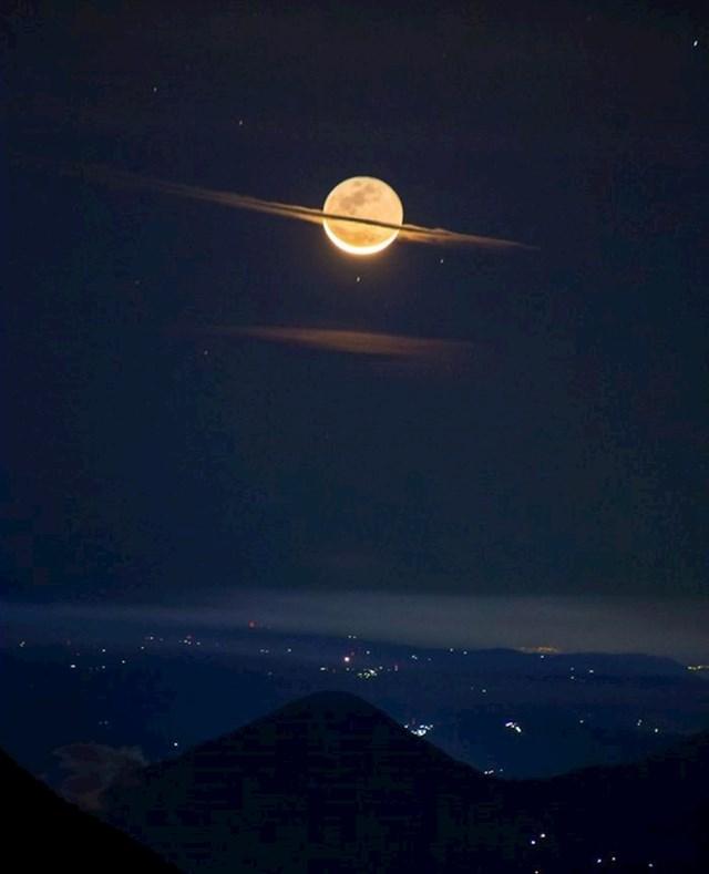 Mjesec izgleda kao Saturn
