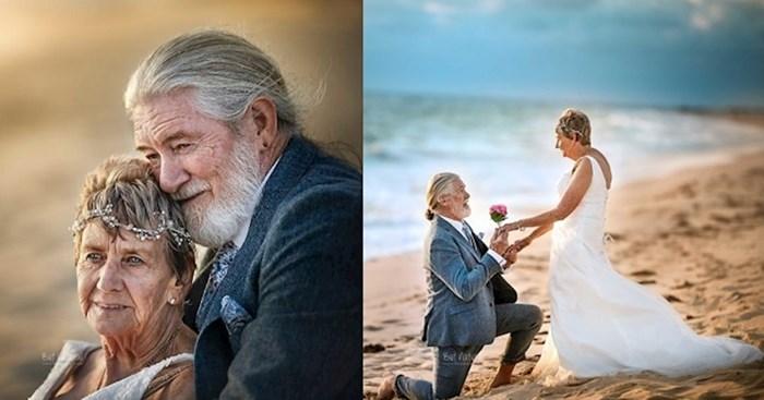 Nakon 55 godina braka slikali su se kao mladenci i pokazali kako izgleda prava ljubav