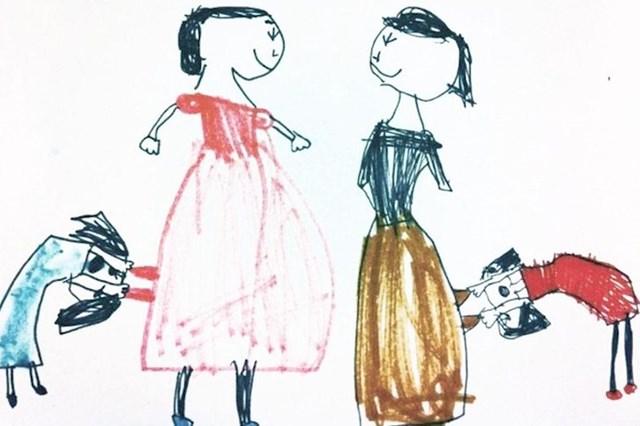 """""""Crtež moje kćeri. Zove se """"Mame u dućanu"""""""