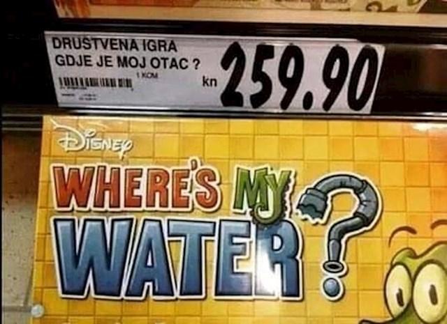 water = voda