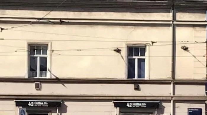 Na fasadi zgrade u Draškovićevoj ulici u Zagrebu osvanuo je znakovit natpis