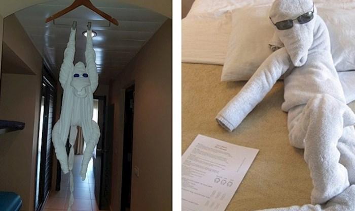 Ljudi su slikali likove od ručnika koji su ih dočekali u hotelima i to izgleda presmiješno