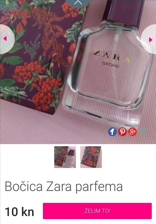 Prodaje praznu bočicu parfema...