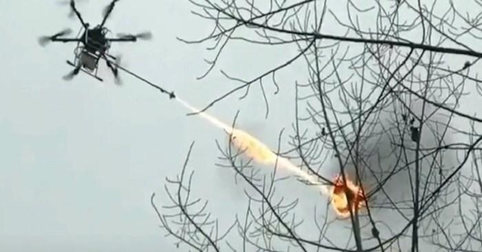 Kinezi imaju dron bacač plamena, pogledajte kako uništava gnijezdo osa