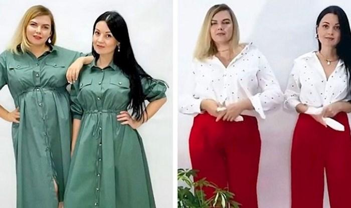 Ove dvije frendice fotkaju se u istoj odjeći kako bi pokazale da stil nije određen brojem kilograma