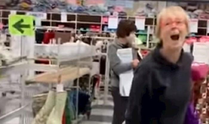 VIDEO Žena napala prodavačice jer su joj rekle da stavi masku